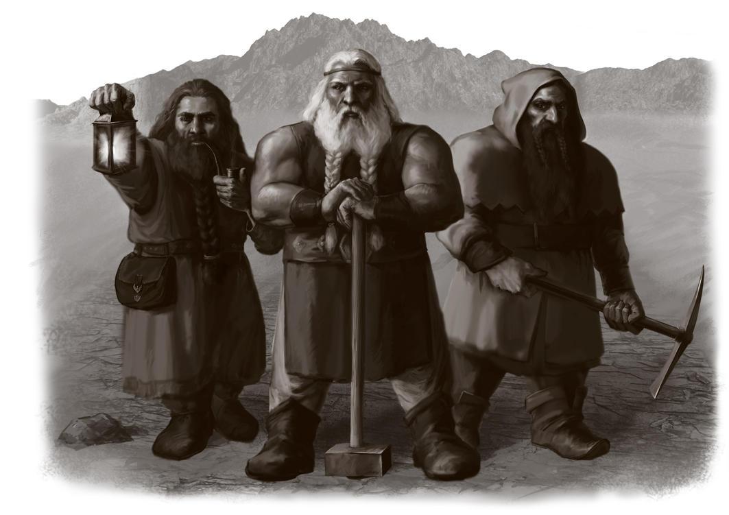 Dwarven recruits by meneldil-elda