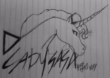 Lady Gaga Unicorn by kunoyasatori