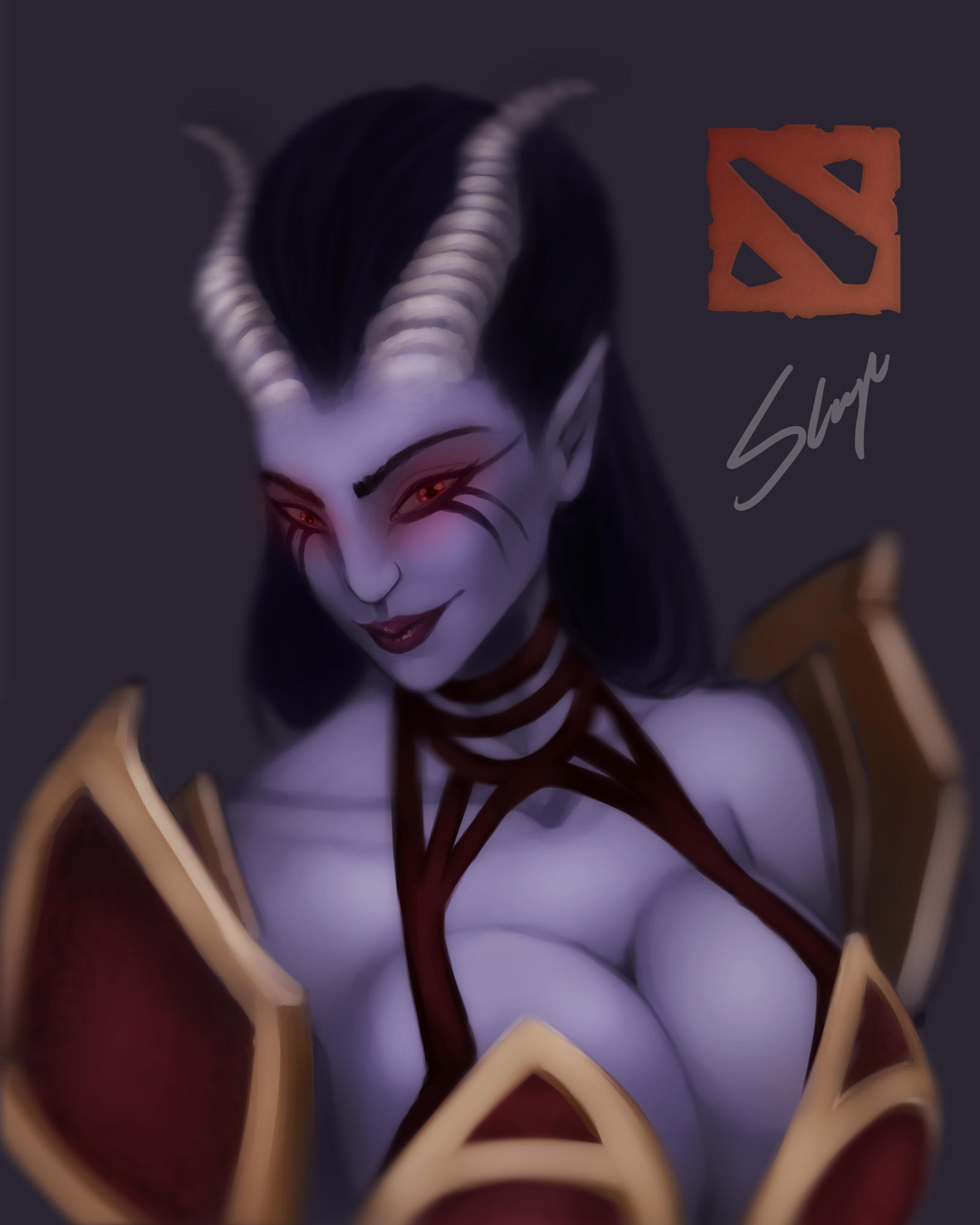 dota 2 queen of pain by augustogarcia on deviantart