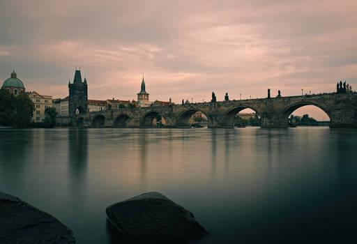 charles bridge prague - dark mood