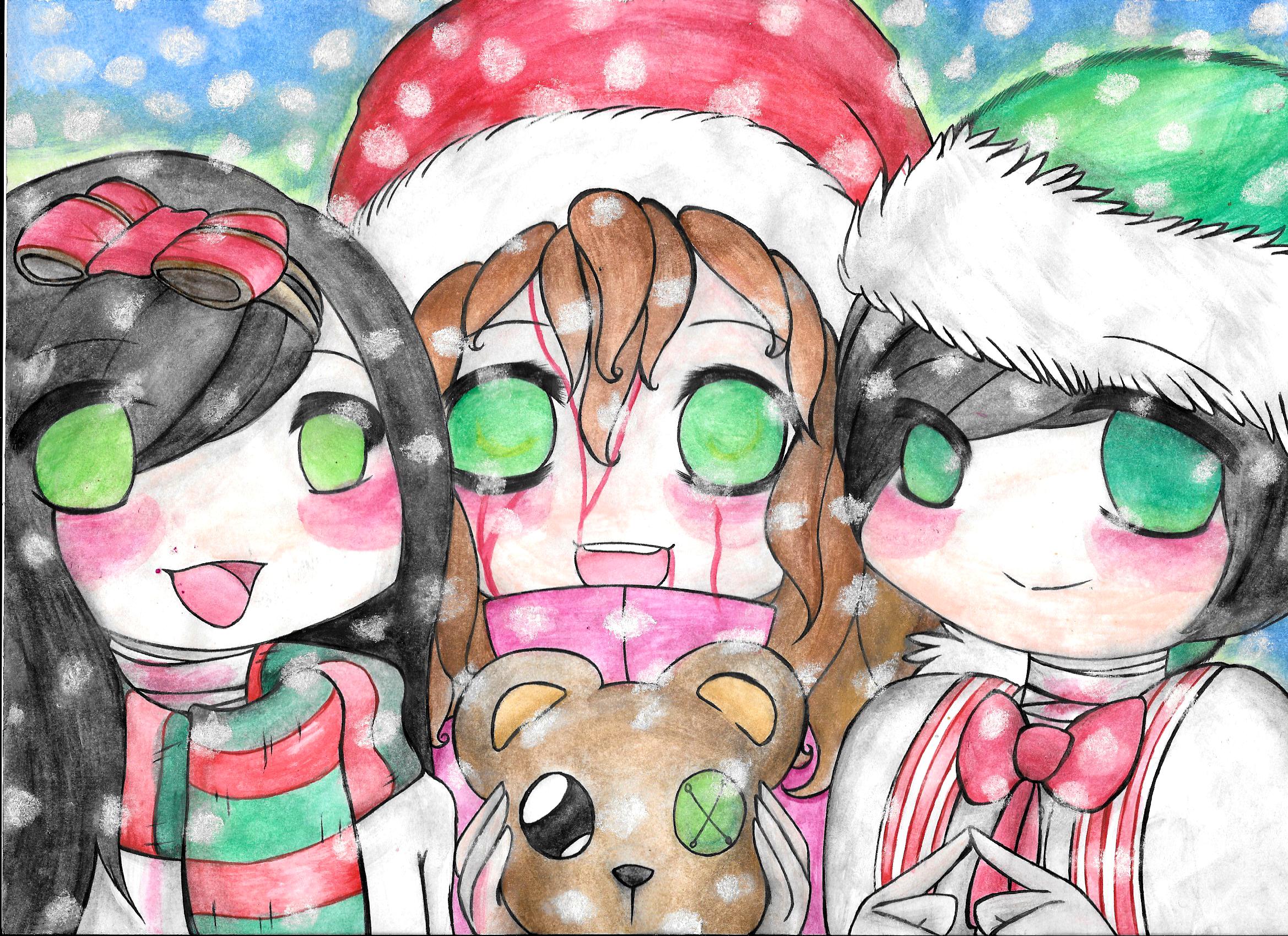 3 Christmas Ghosties~ by HellishGayliath on DeviantArt