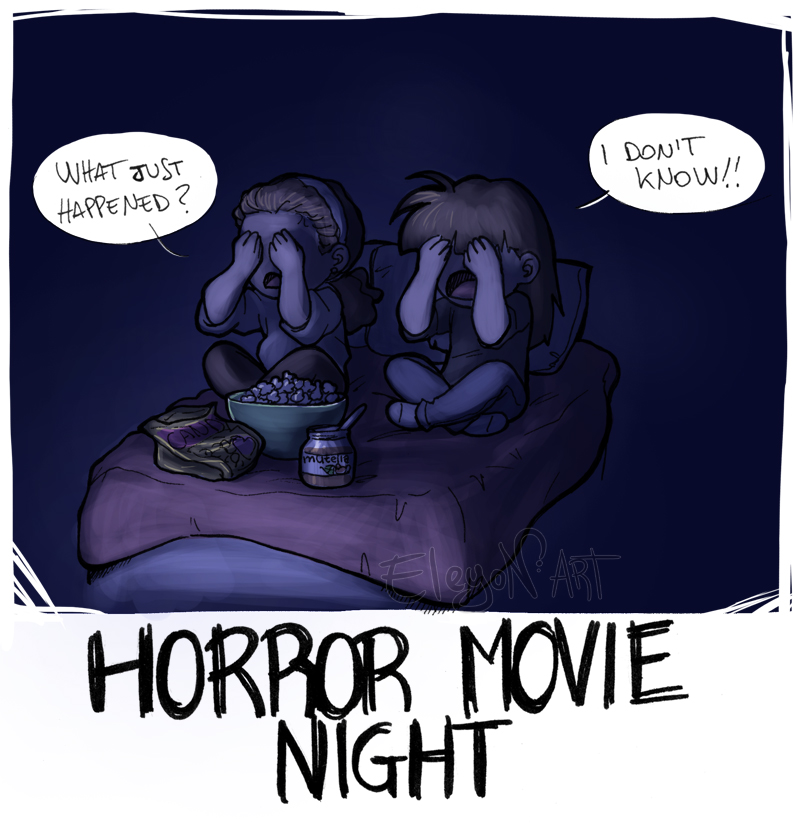 Horror movie night by IreneMartini