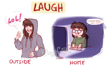 The laugh by IreneMartini