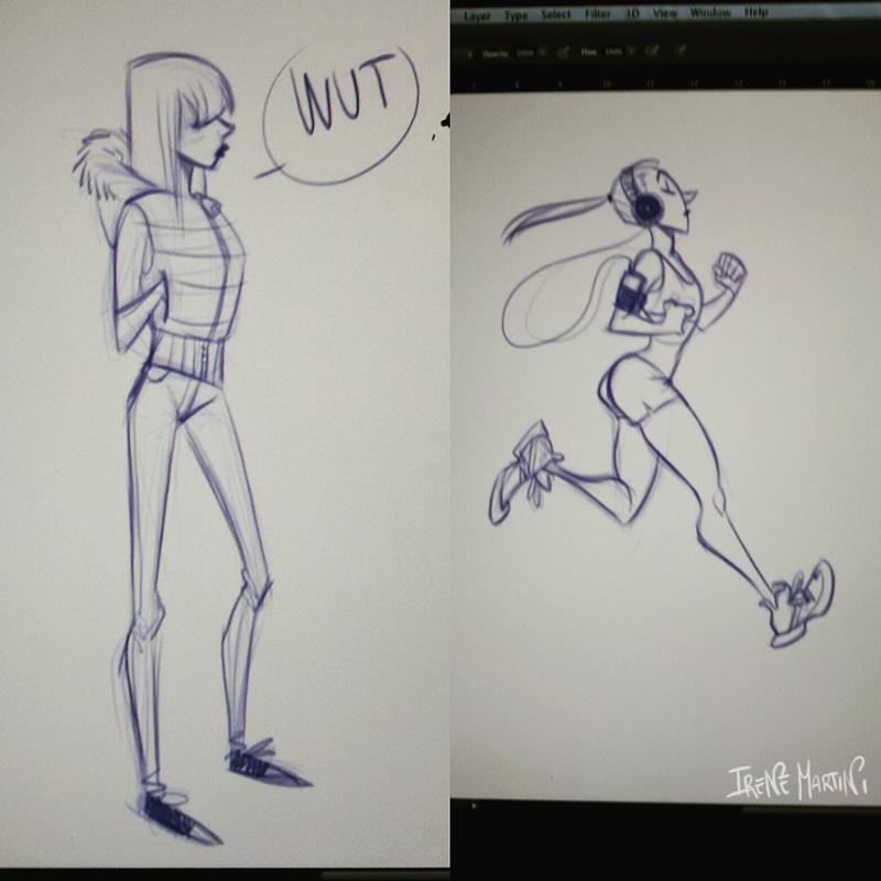 Sketchy girls by IreneMartini