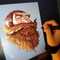 Growing a beard by IreneMartini