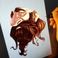 Growing a beard 2 by IreneMartini