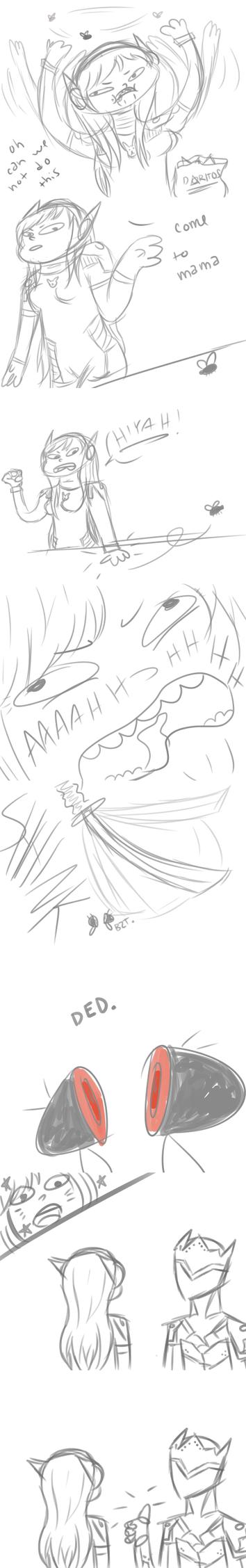 Pesky Fly [Overwatch Comic] by bubblyyuui