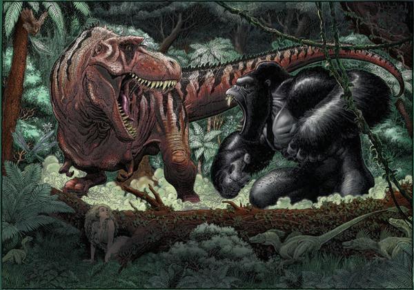 Trex vs King Kong by wohoo19m