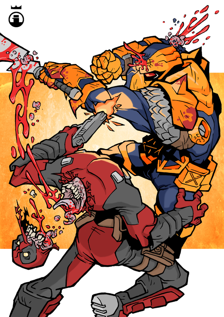 Deadpool Vs Deathstroke Drawing Download