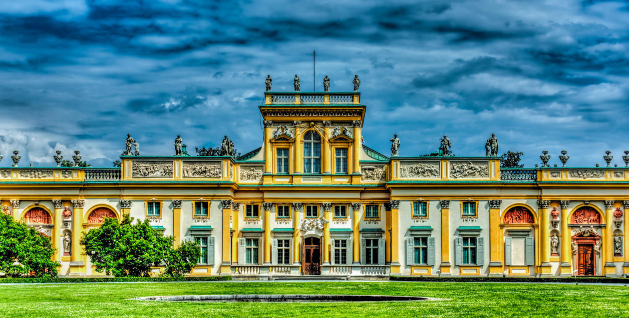 The Baroque Royal Palace in Wilanow by A1k3misT on deviantART