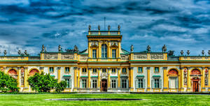 The Baroque Royal Palace in Wilanow