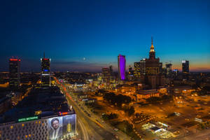 Warsaw Downtown at Sunset by A1k3misT