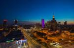 Warsaw Downtown at Sunset