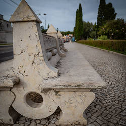 Lisbon. A marble bench. by A1k3misT