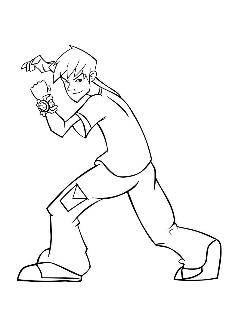 D Line Drawings Not Working : Ben line work by domino on deviantart