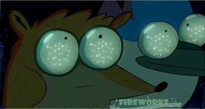 Fireworks from Regular show by ChaoFlakaa
