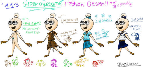 11's Original Design And Outfits by ChaoFlakaa