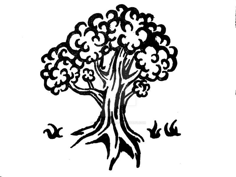 B+W Tree Tattoo Design by Timmytushoes