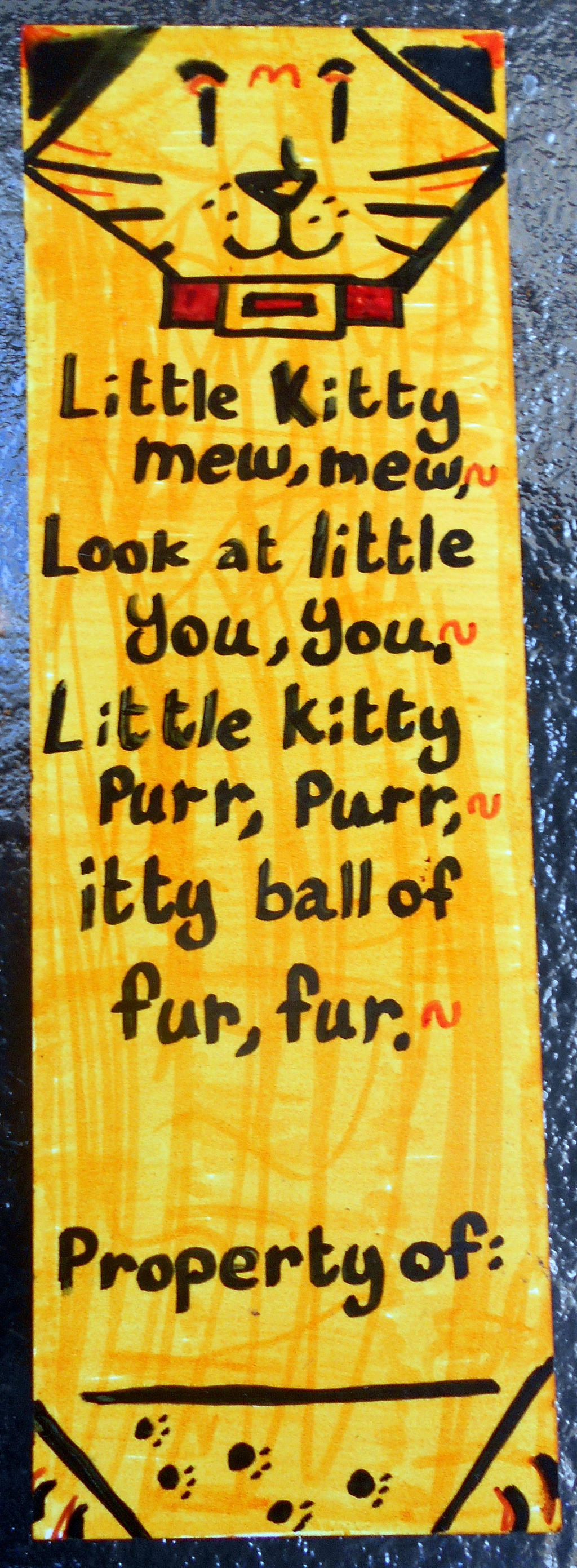 Little Kitty Bookmark by Timmytushoes