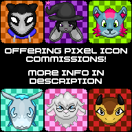 Offering Pixel Icon Commissions! (June 2018) by knux400
