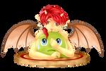 Chibi demon and tasteful slime by aciampal