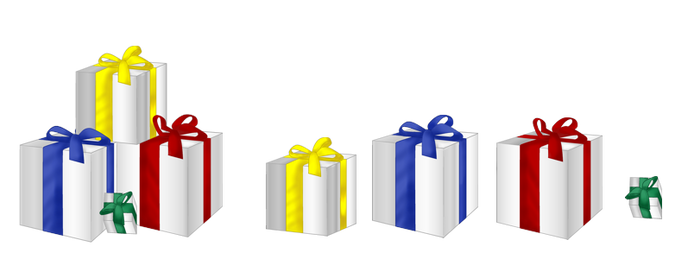 XMas decorations - Gift boxes