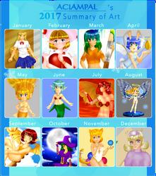 Art Summary 2017 by aciampal