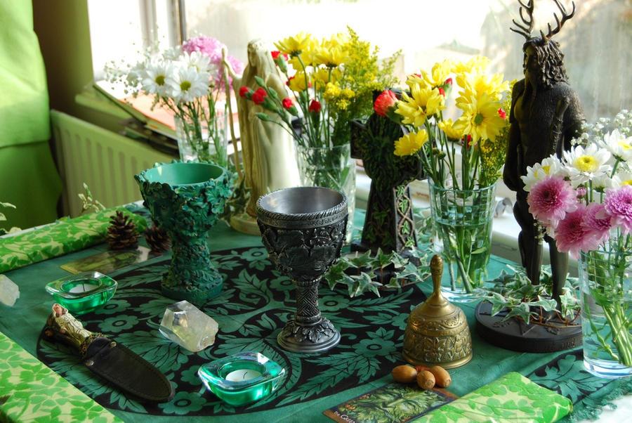 Beltane Altar by Druidstone