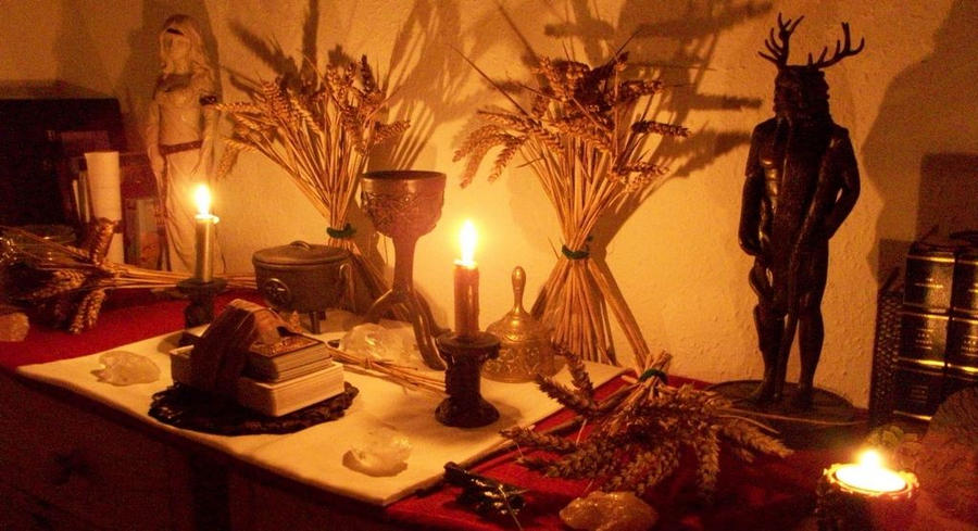 Lughnasadh Altar By Druidstone On Deviantart