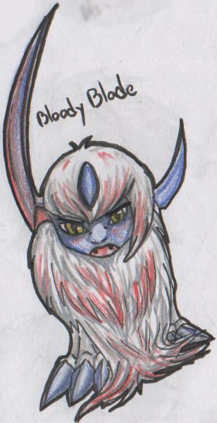 Malk's ArtWorks {Niahahah dessiiins ! *Zbaf*} Pokemon_Theme___Bloody_Sword_by_La_Malkavian