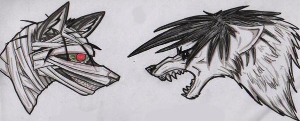 Malk's ArtWorks {Niahahah dessiiins ! *Zbaf*} Yoshimori_Vs_Kaguro_Wolfs_by_La_Malkavian