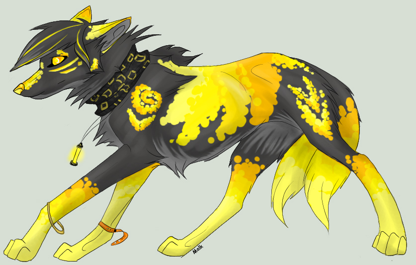 Yellow Anime Wolf Hassium Punk Wolf by L...
