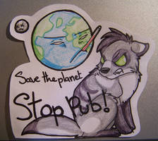 -Cut Work- Save Earth STOP PUB by La-Malkavian