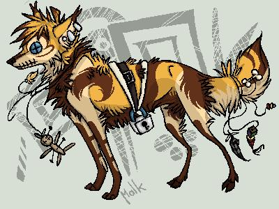 Random, the strange fox. by La-Malkavian