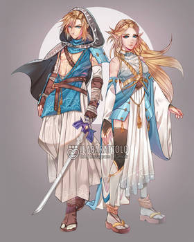 Link/Zelda Redesign by ilaBarattolo