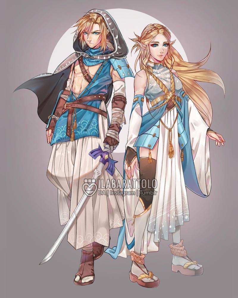 Link/Zelda Redesign by ilaBarattolo on DeviantArt