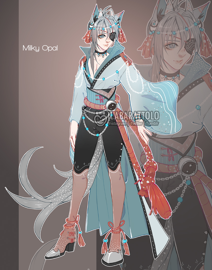(CLOSED) Adopt auction- Milky Opal