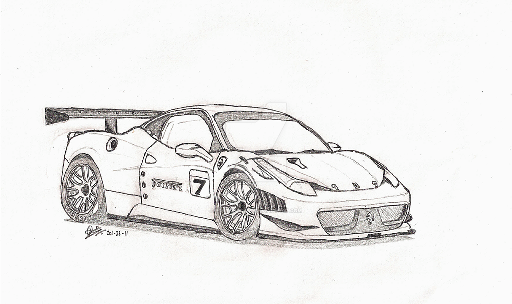 Ferrari 458 Italia Gt Concept By Pratikartist On Deviantart