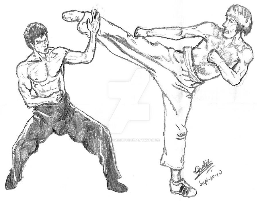 bruce lee coloring pages - photo#13