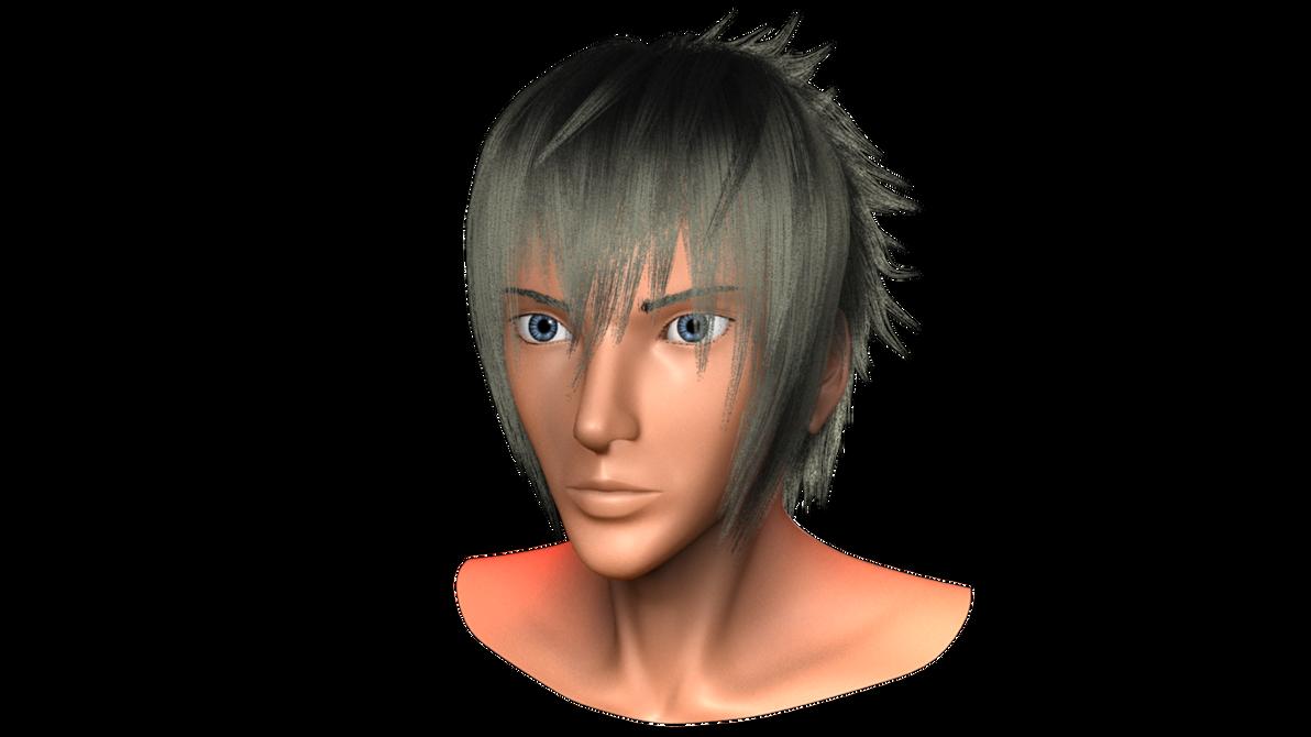 Final Fantasy XV - 3D Noctis head progress 6 by pratikartist