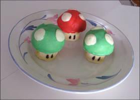 Super Mario Mushrooms Cookies by ThePockyNinjaBakery