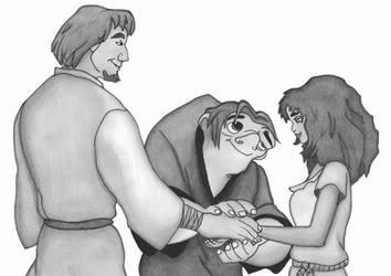 Quasimodo, Phoebus, Esmeralda