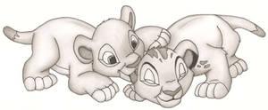 Simba and Nala Cub love