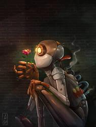 Robot Flower by LoBill