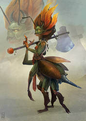Insect warrior by LoBill