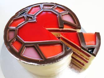 DragonAge insp StainedGlass Heart Cake +Recipe+Vid by SweetMissCreation