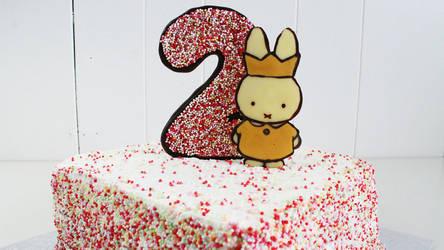 Nijntje | Miffy 2nd Birthday Cake + Recipe + Video by SweetMissCreation