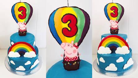 Peppa Pig 3rd Birthday Cake + Recipe + Video