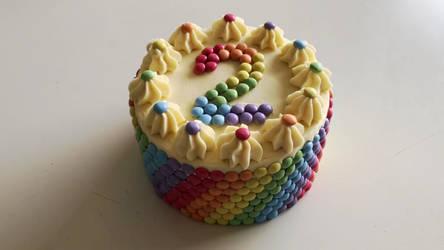 Smarties Birthday Cake + Video + Recipe
