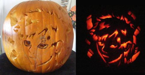 Gaara Pumpkin by AnimeDaydream